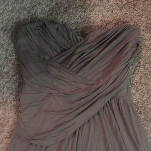 Express Mini-Dress strapless sexy Olive ruched